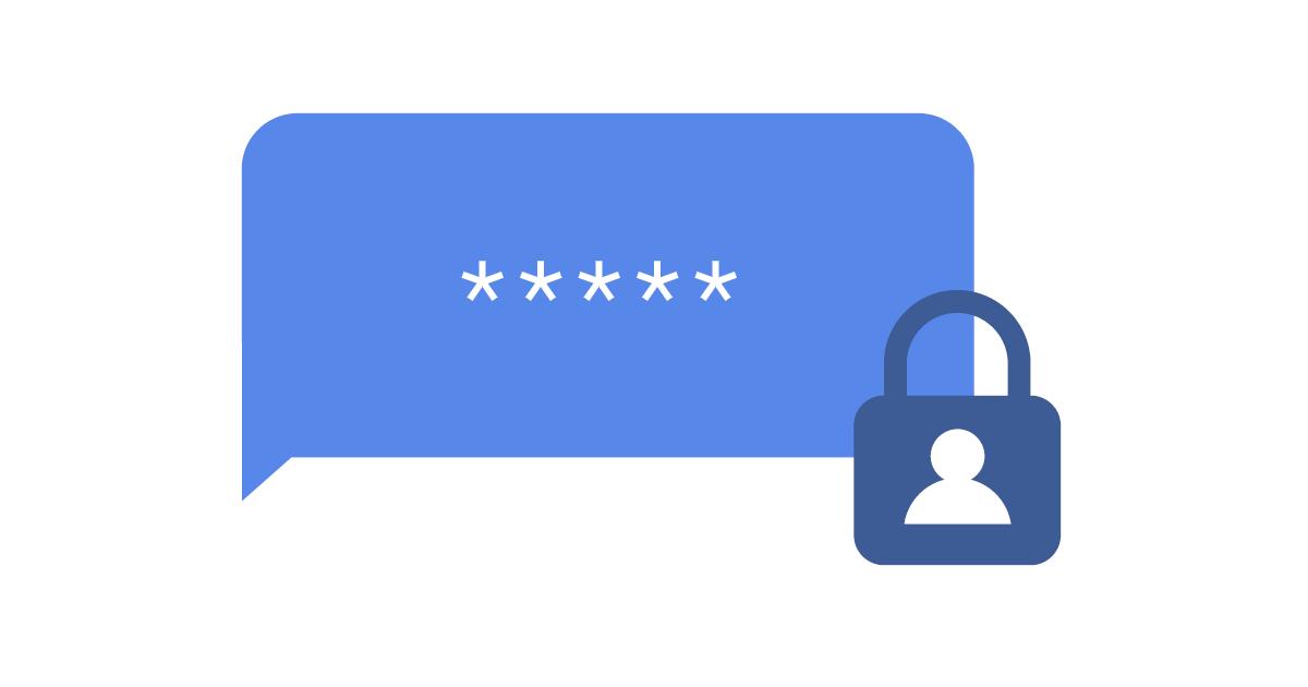Passwort in Sprechblase und Vorhängeschlosssymbol