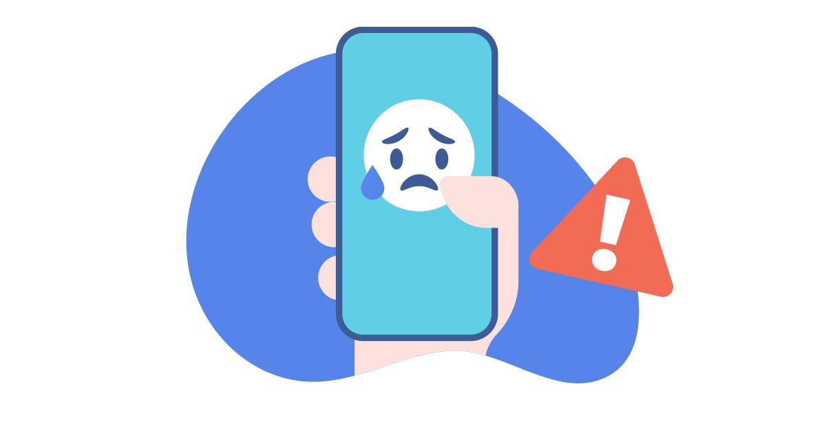 ícone de cyberbullying em smartphone