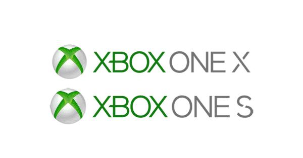 xbox one x和xbox one s徽标
