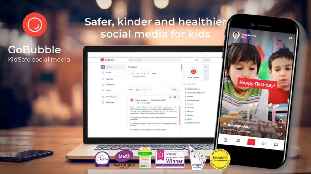 gobubble -kidsafe social media image