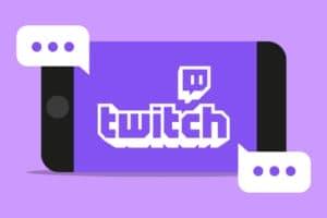 Twitch-logo op mobiele telefoon