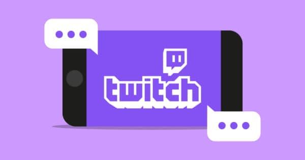 Logotipo do Twitch no celular